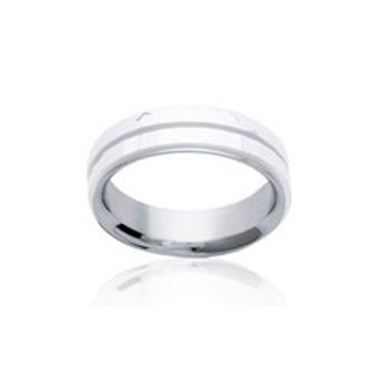 Bague en acier et céramique avec anneaux amovibles