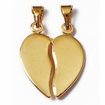 Pendentif coeur séquable en plaqué-or.
