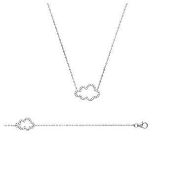 Bracelet ou Collier nuage en argent 925 000 rhodié et oxyde de zirconium. 324e8a946494
