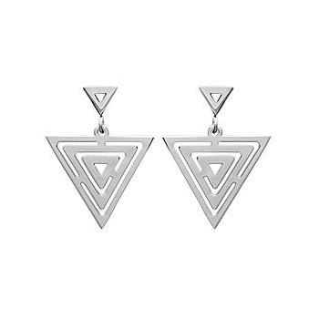 Boucles d'oreilles triangle en acier 316L.