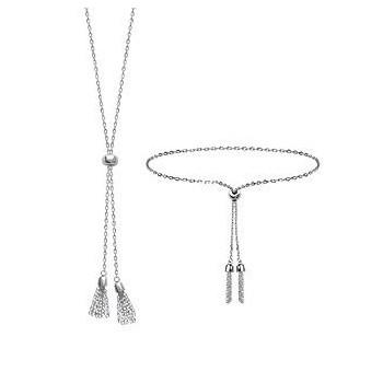 Bracelet et ou collier coulissant en argent 925 000 rhodié. c97ca518b433