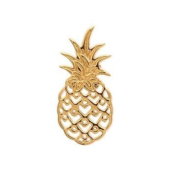 Pendentif en plaqué or. Modèle ananas