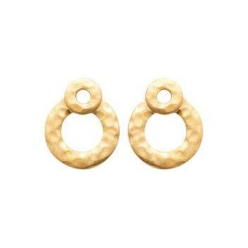 Boucles d'oreilles double cercles martelé.