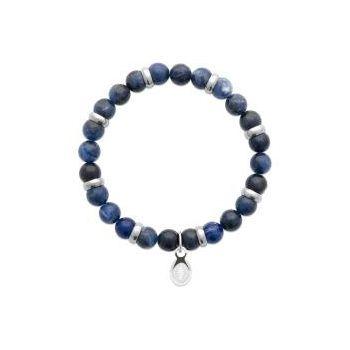 Bracelet pour homme Perles en Jaspe Bleu.
