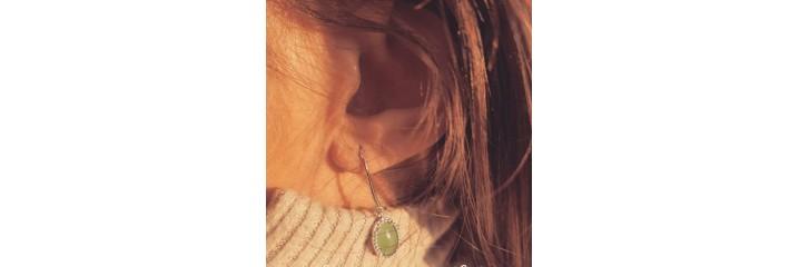 Boucles d'oreilles en argent.