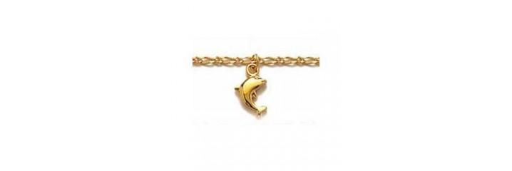 Chaines pour chevilles en plaqué or.