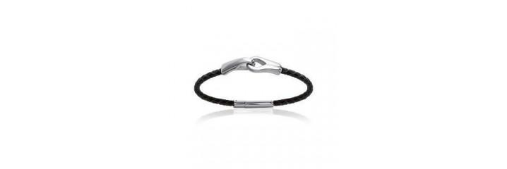 Bracelets et colliers en acier & cuir